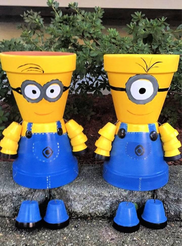 DIY Minion Terra Cotta Pots
