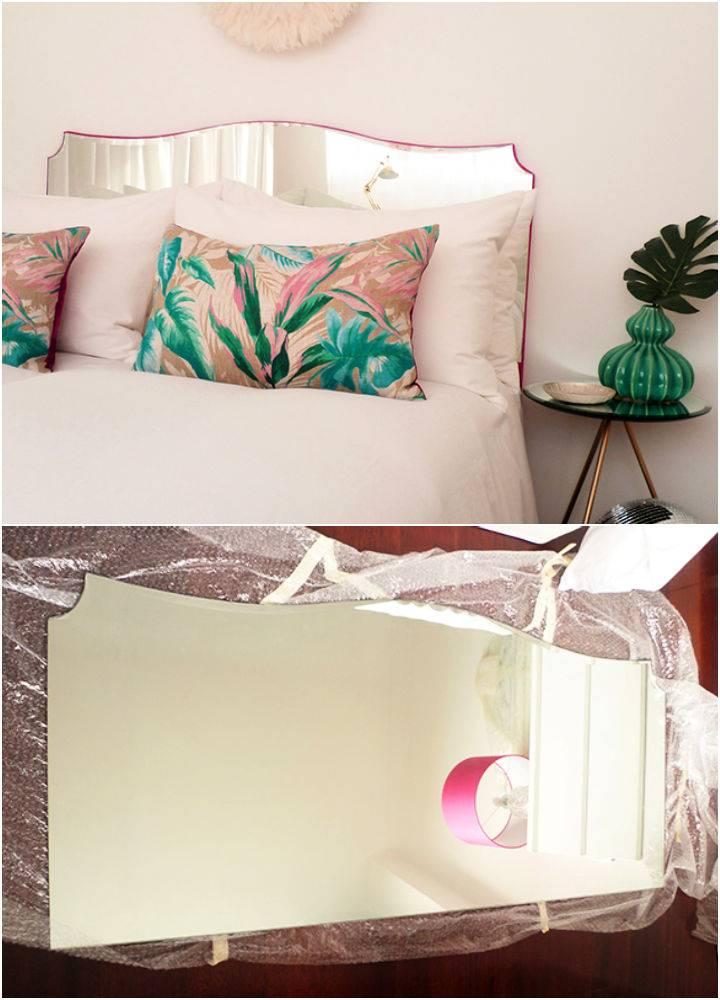 DIY Mirrored Headboard
