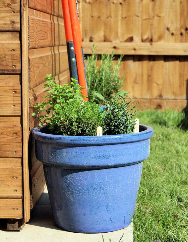 DIY Plant Pot Herb Garden