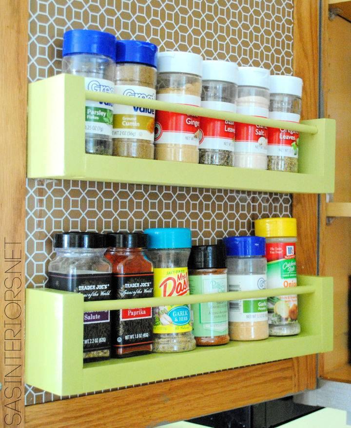 DIY Wood Spice Rack
