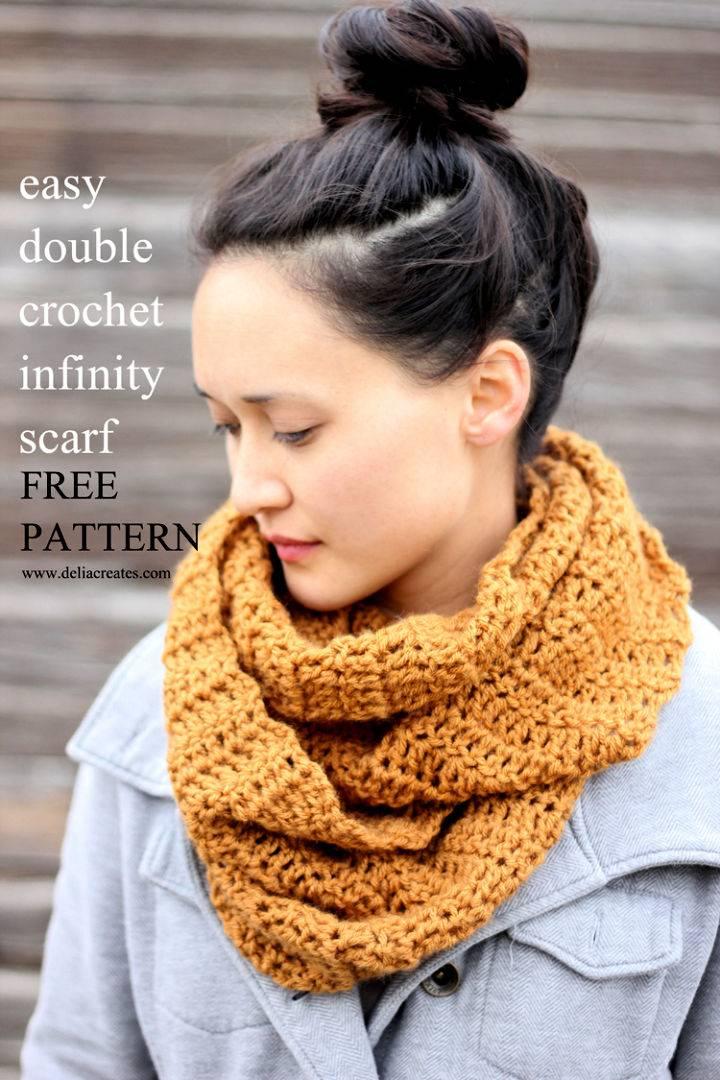 Double Crochet Infinity Scarf Pattern