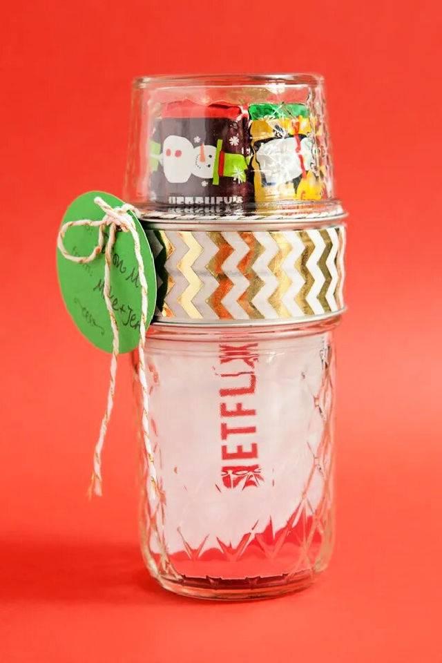 Double Mason Jar Gift Card Candy Holder