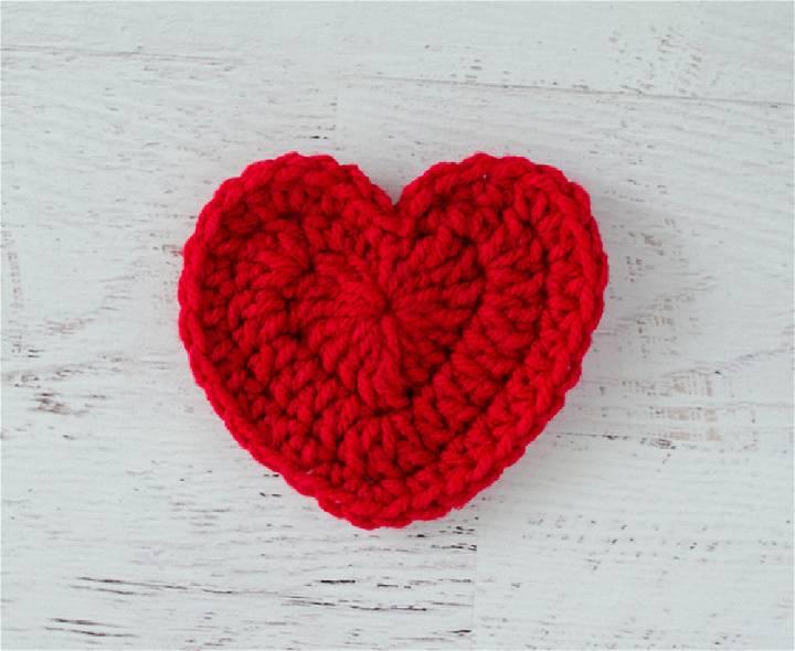 Easiest Crochet Heart Pattern