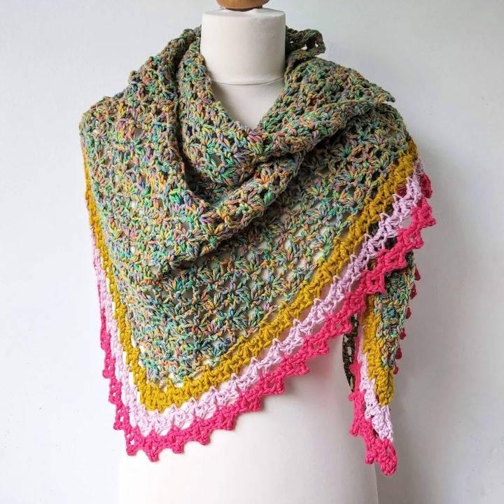 Easy Crochet Triangle Shawl Pattern
