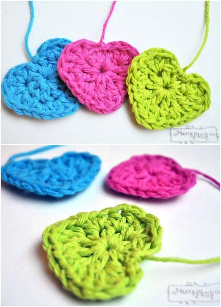 Easy Free Crochet Heart Pattern