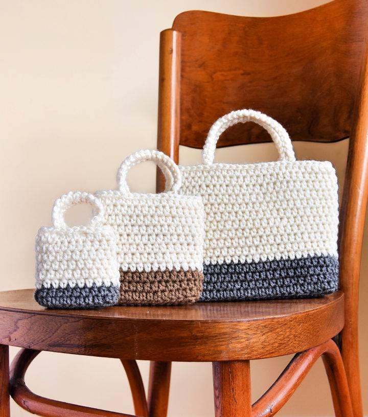 Easy Gift Bag Crochet Pattern