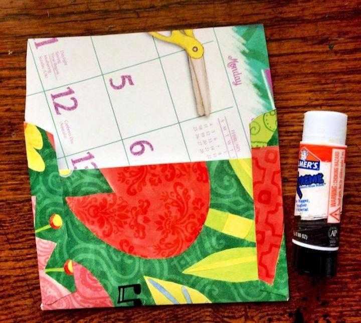 Easy Paper Envelopes Using Wall Calendars