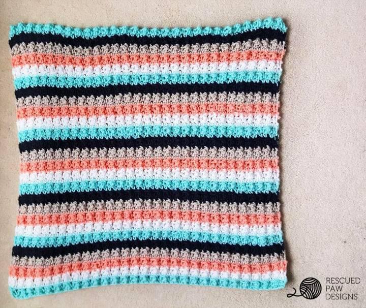 Easy Striped Crochet Baby Blanket Patterns