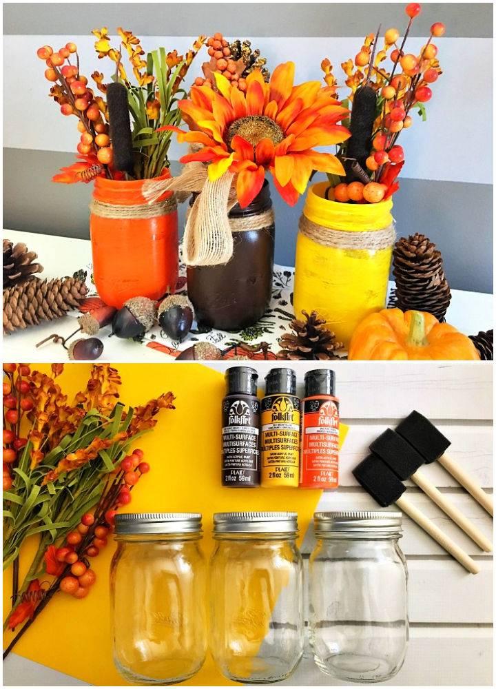 Fall Mason Jar Centerpiece