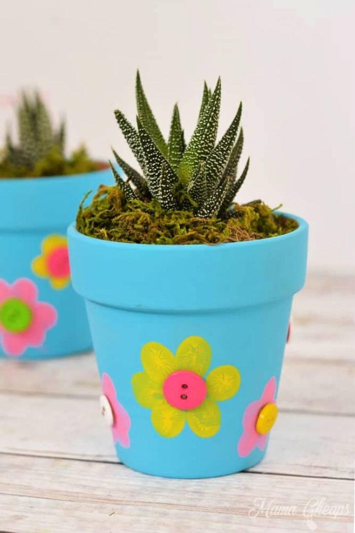 Fingerprint Flowerpot Craft