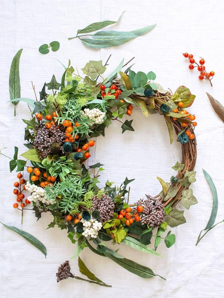 Foraged Fall Wreath