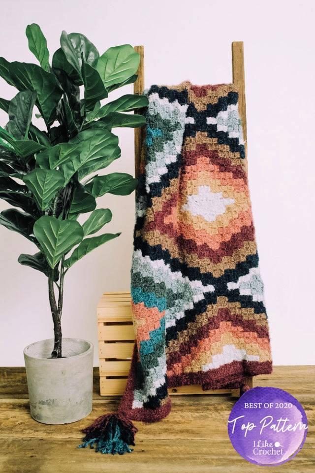 Free C2C Crochet Runa Blanket Pattern