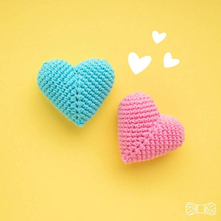 Free Crochet 3D Hearts Pattern