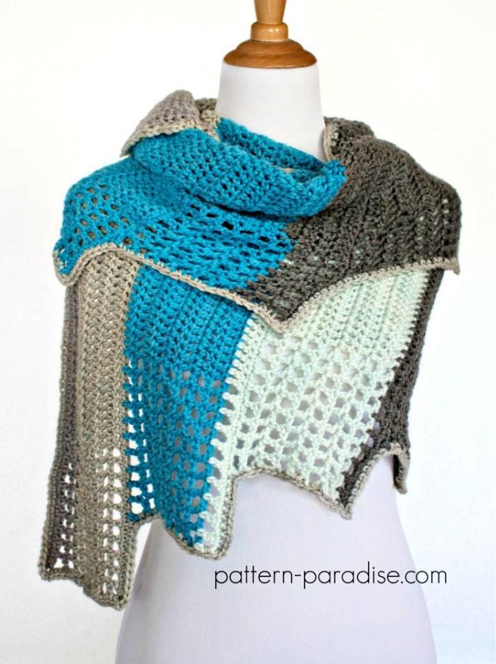 Free Crochet Blue Ridge Wrap Pattern