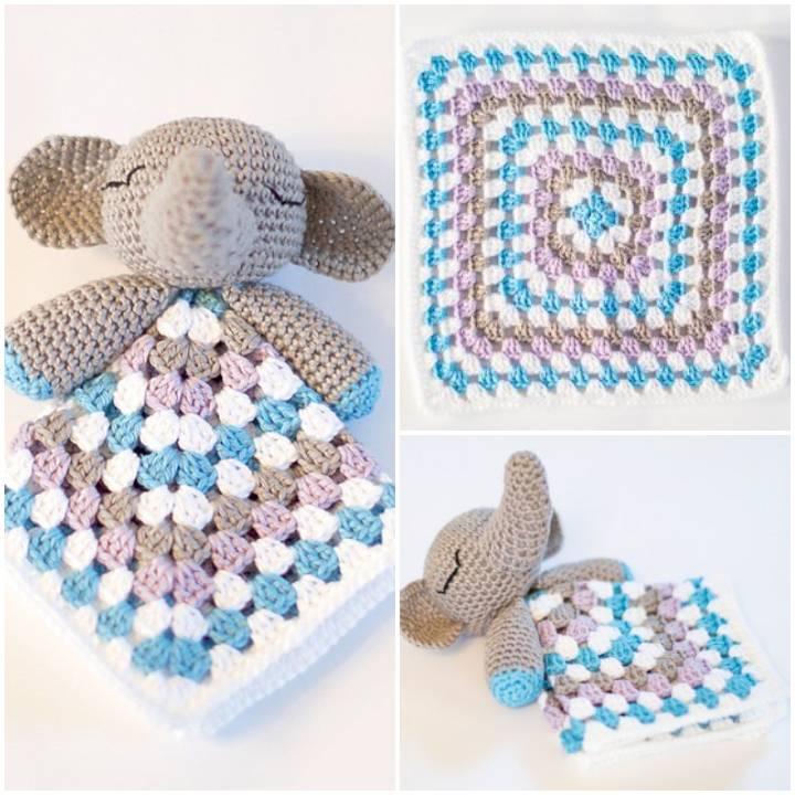 Free Crochet Elephant Snuggle Pattern