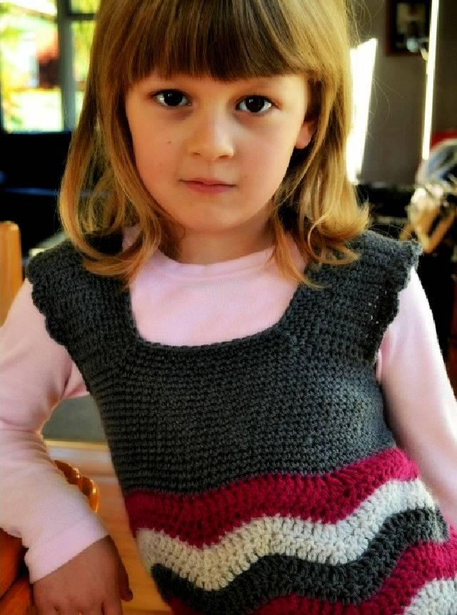 Free Crochet Ripple Dress Pattern