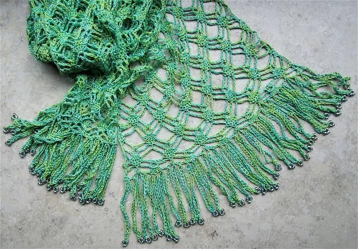 Free Crochet Silky Scarf Pattern