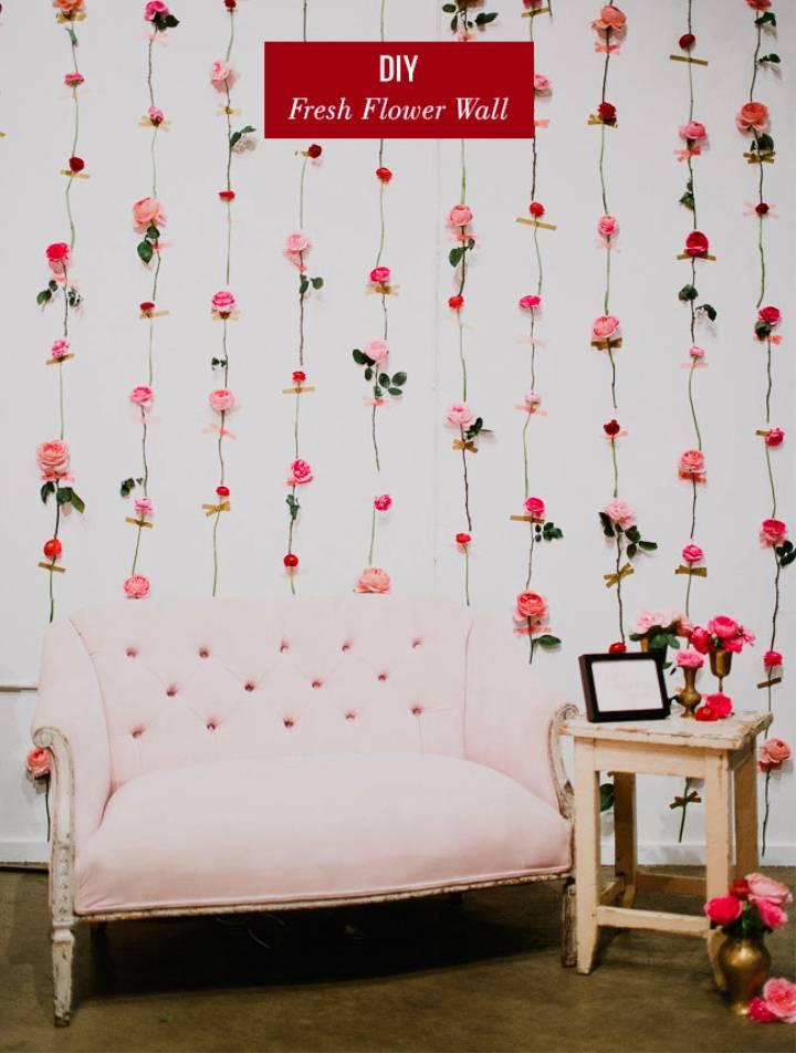 Fresh Flower Wall Backdrop