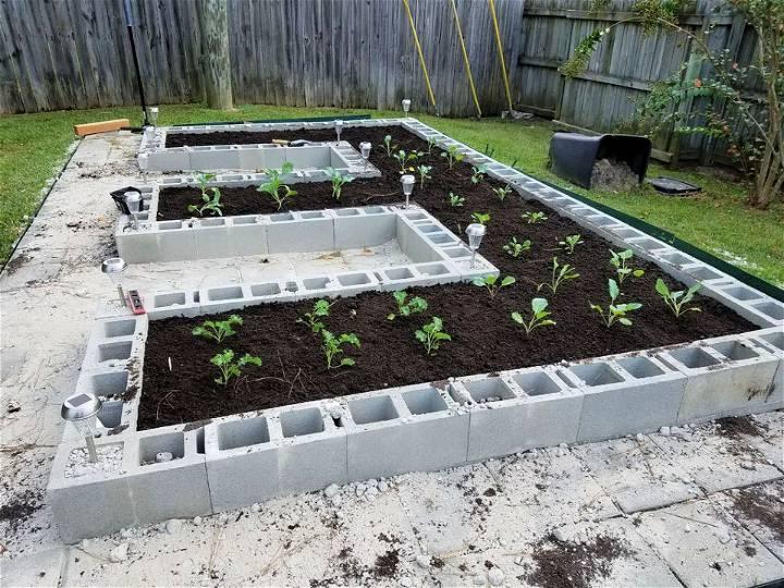 Garden Bed Using Concrete Block