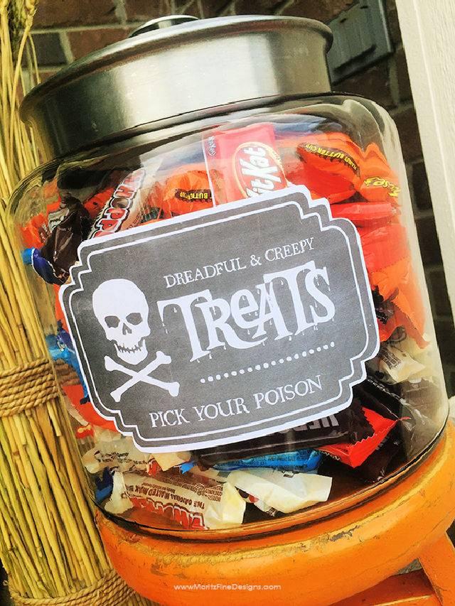 Halloween Candy Jar Label
