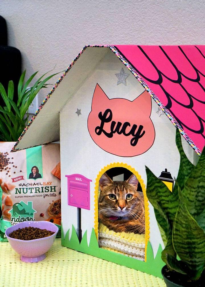 Homemade Cardboard Cat House