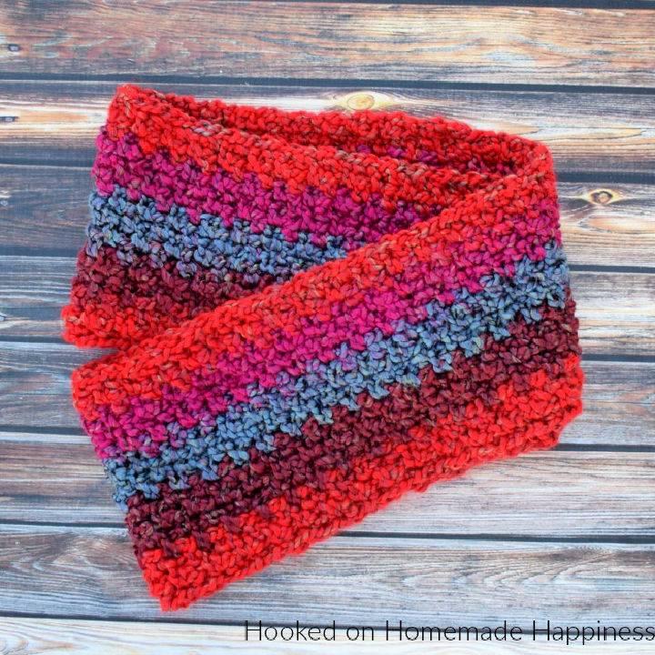 Homespun Crochet Infinity Scarf Pattern