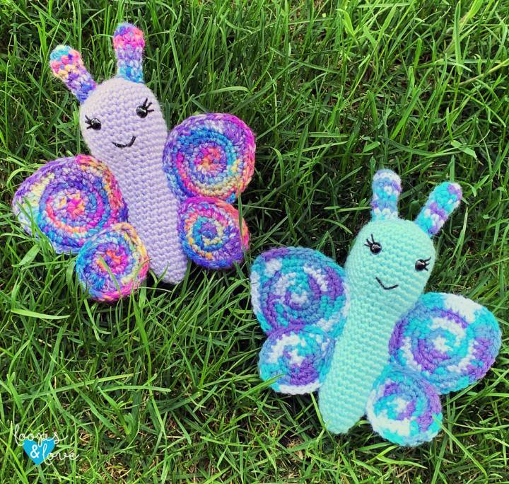 How to Crochet Butterfly Amigurumi