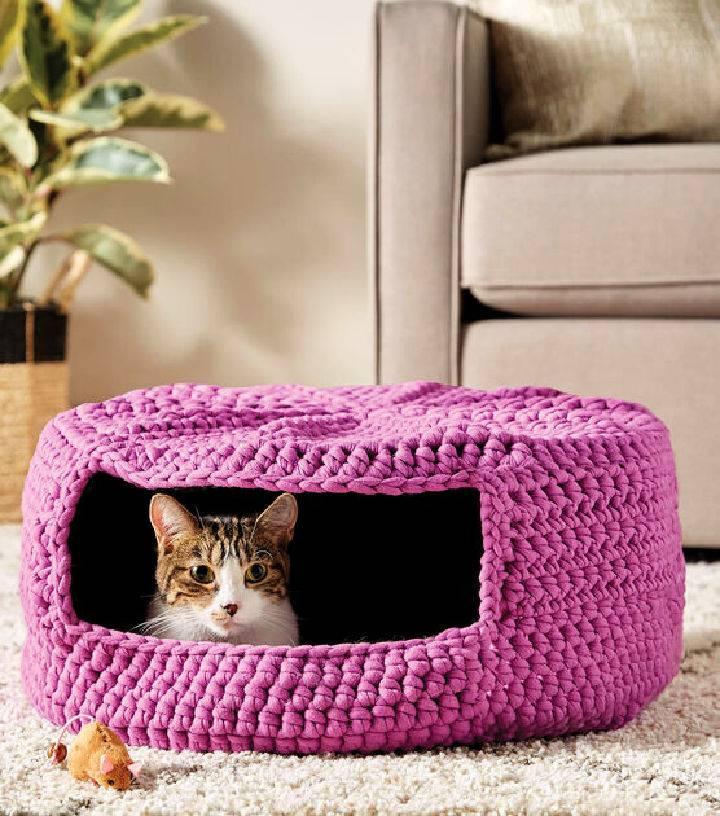How to Crochet Cat Bed