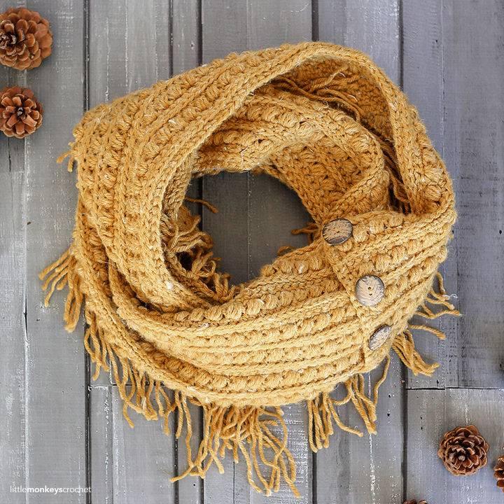 How to Crochet Malia Infinity Scarf