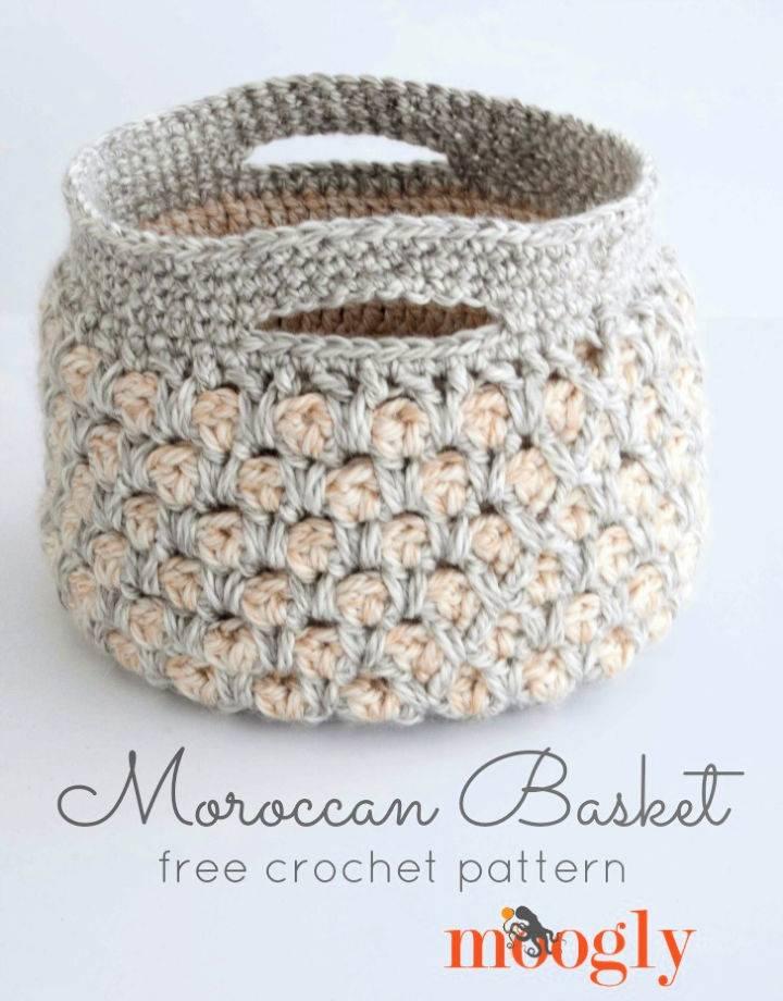 How to Crochet Moroccan Basket