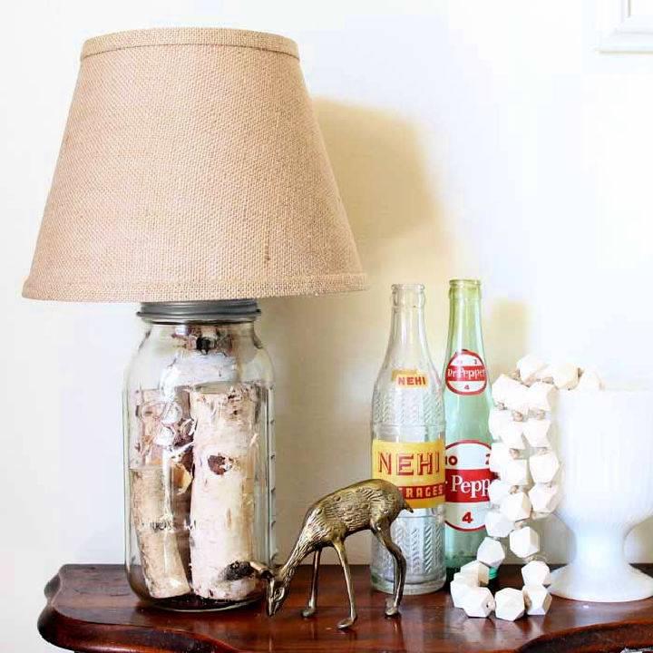 How to Make Mason Jar Table Lamp