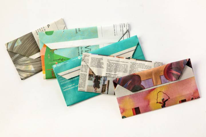 How to Make an Envelope From Newspaper