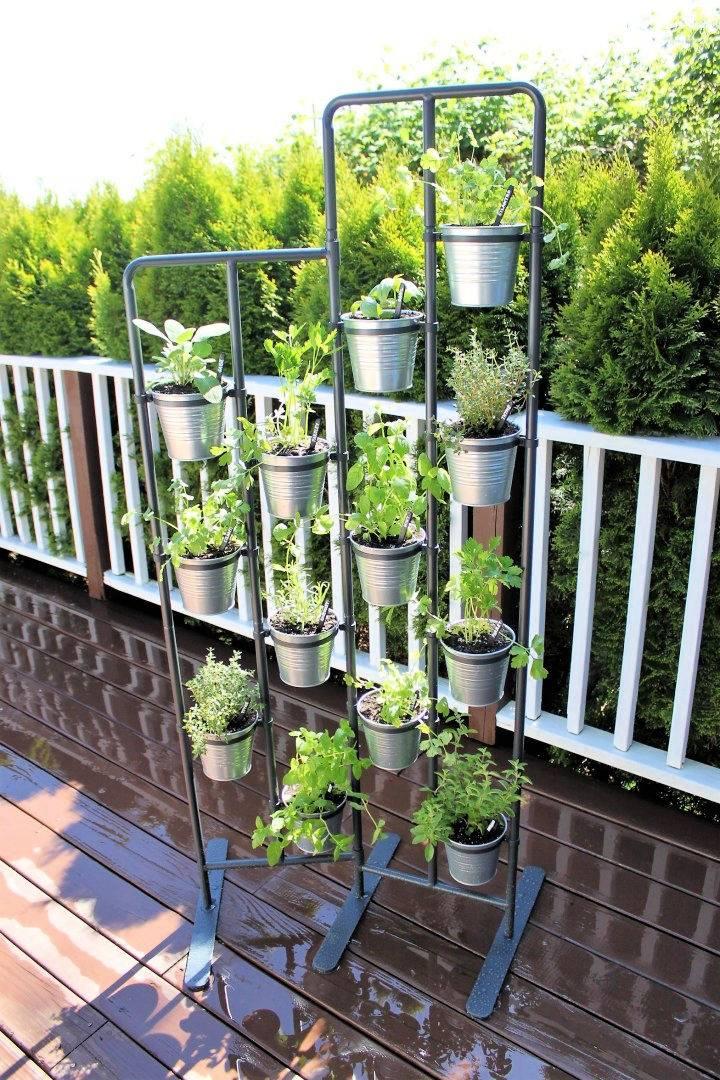 Industrial Style Herb Garden