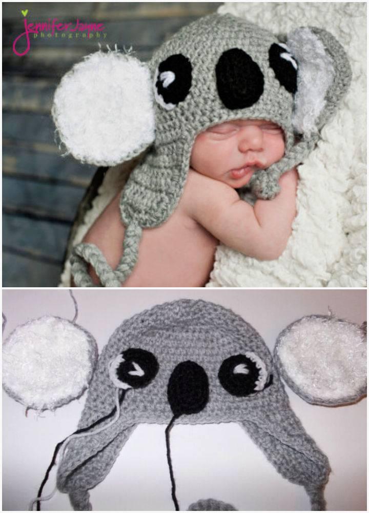 Koala Hat Free Crochet Pattern