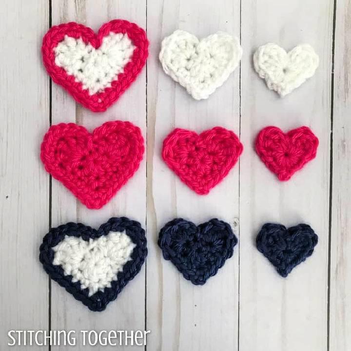 Little Crochet Hearts Free Pattern