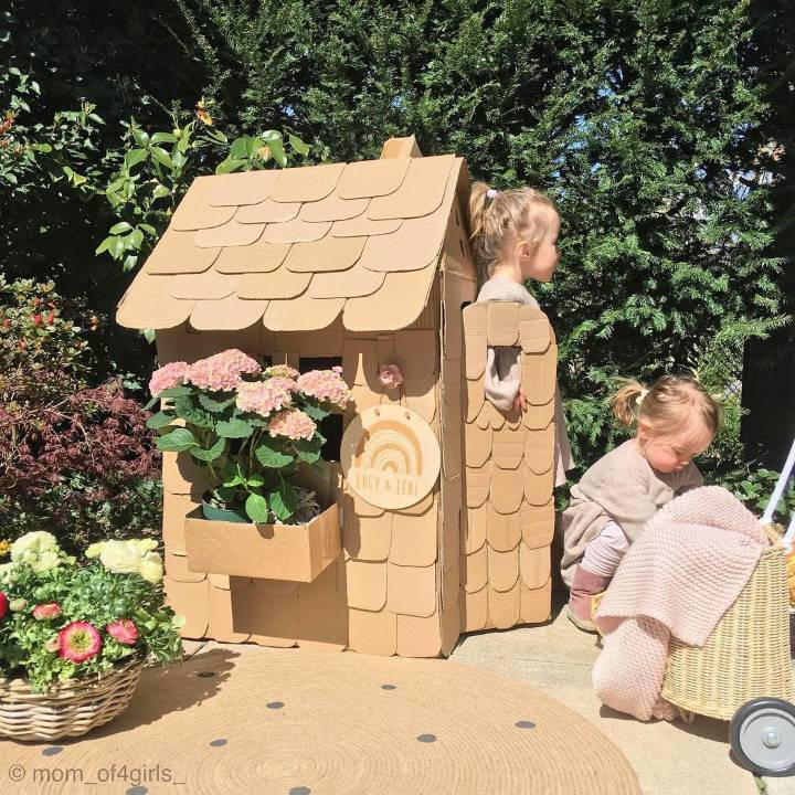 Make your little kids happy by building this cardboard house
