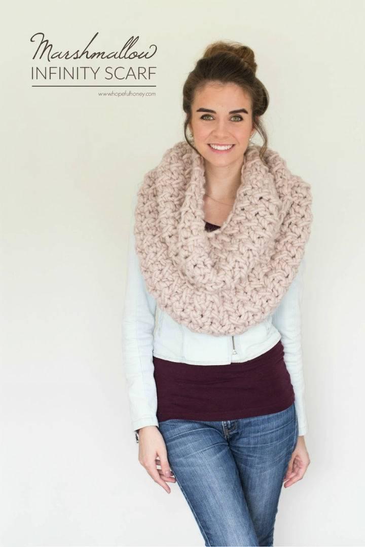 Marshmallow Infinity Scarf Crochet Pattern