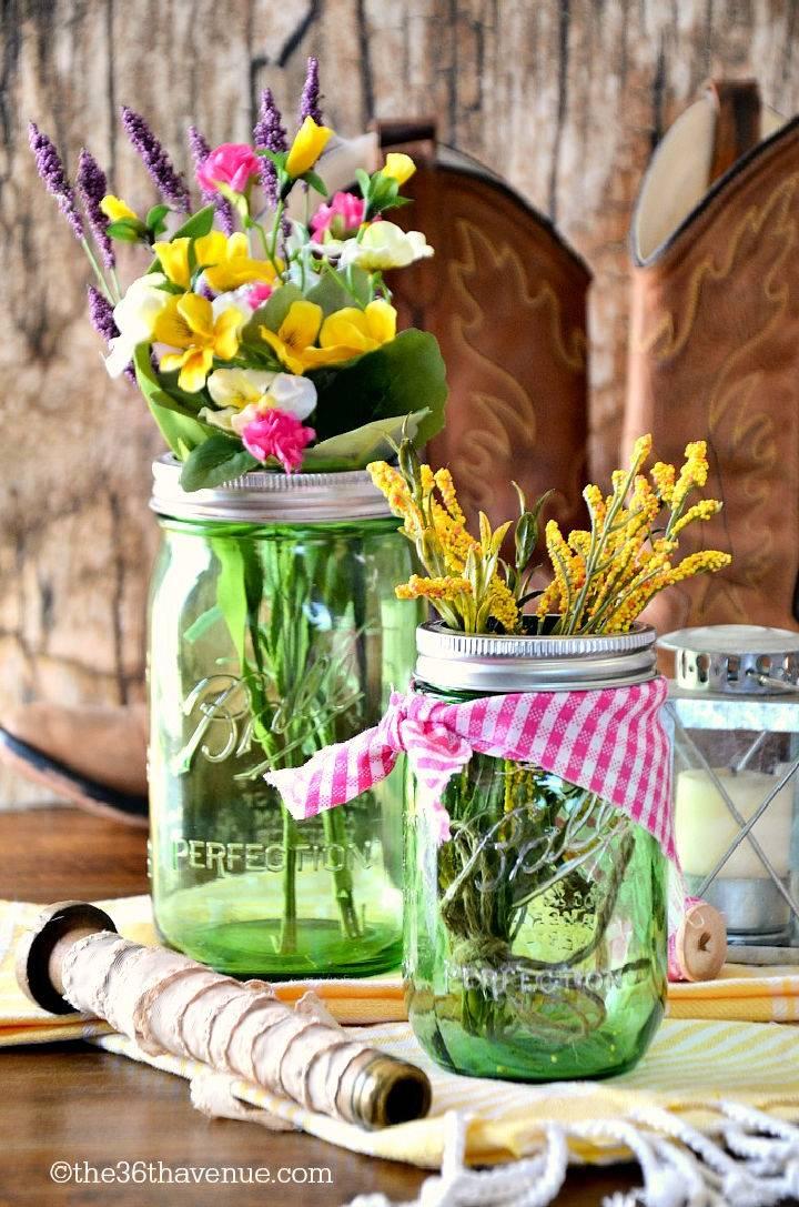 Mason Jar Table Decor