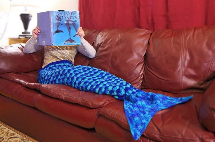 Mermaid Tail Afghan Crochet Pattern