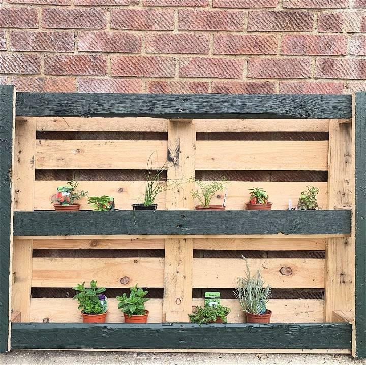 My first pallet creation a herb planter