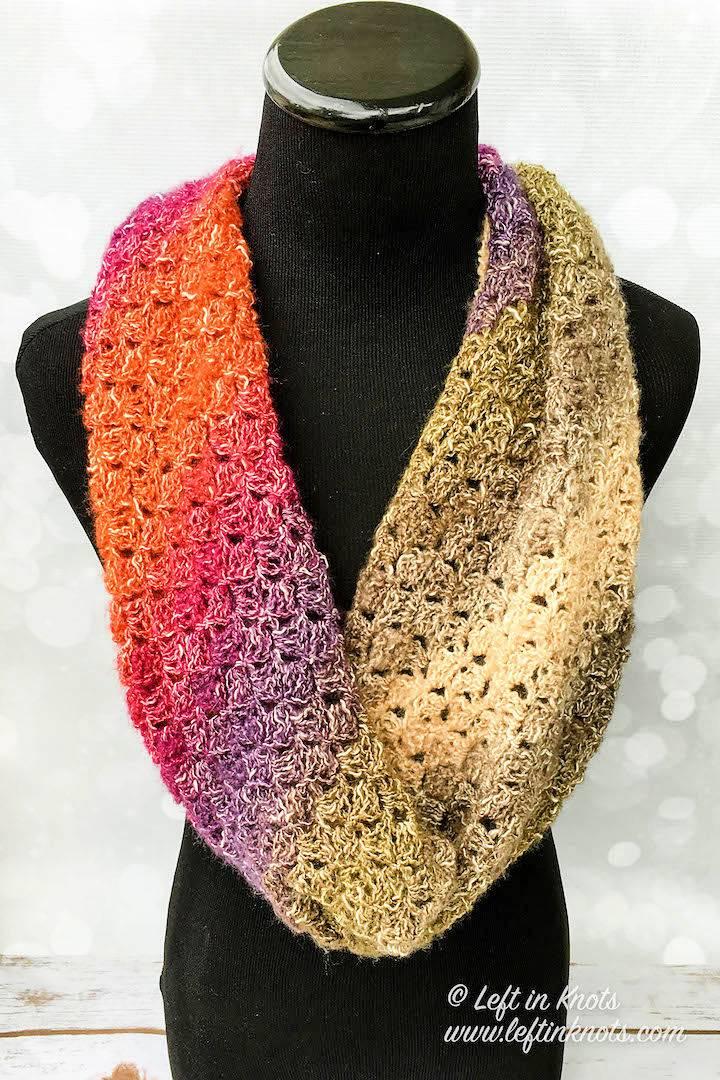 One Skein Eventide Infinity Scarf Crochet Pattern