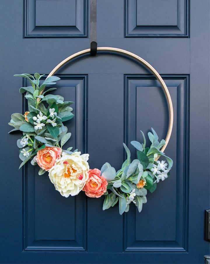 Outdoor Spring Hoop Wreath