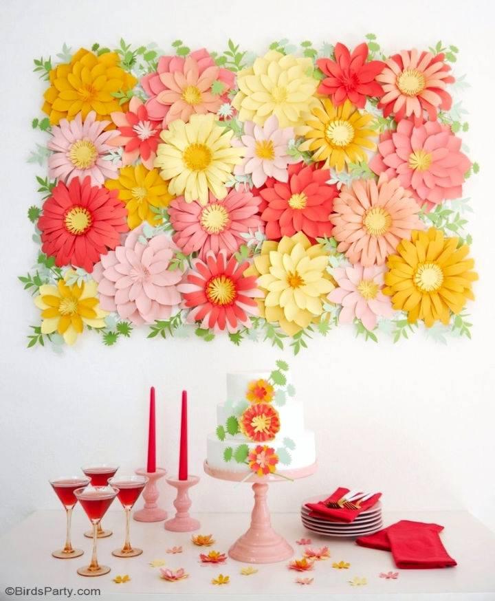 Paper Flowers Backdrop 1