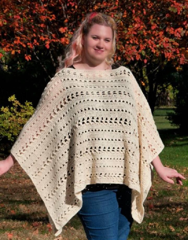 Perfect Fall Poncho Crochet Pattern