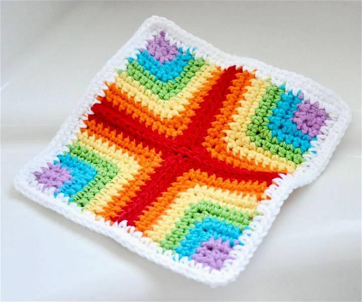 Pieced Crochet Dishcloth Pattern
