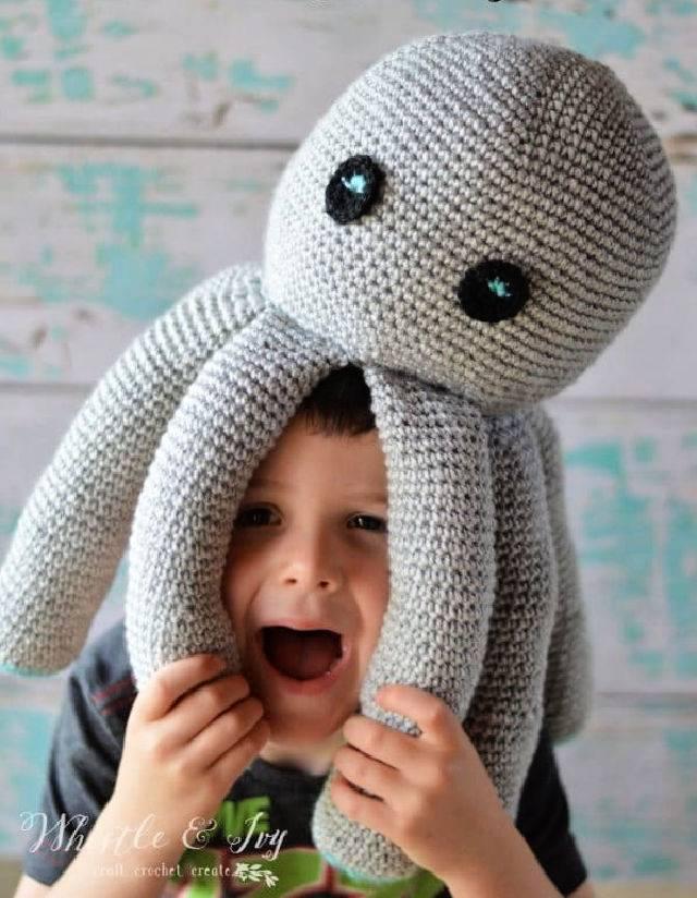 Plush Crochet Octopus – Free Pattern