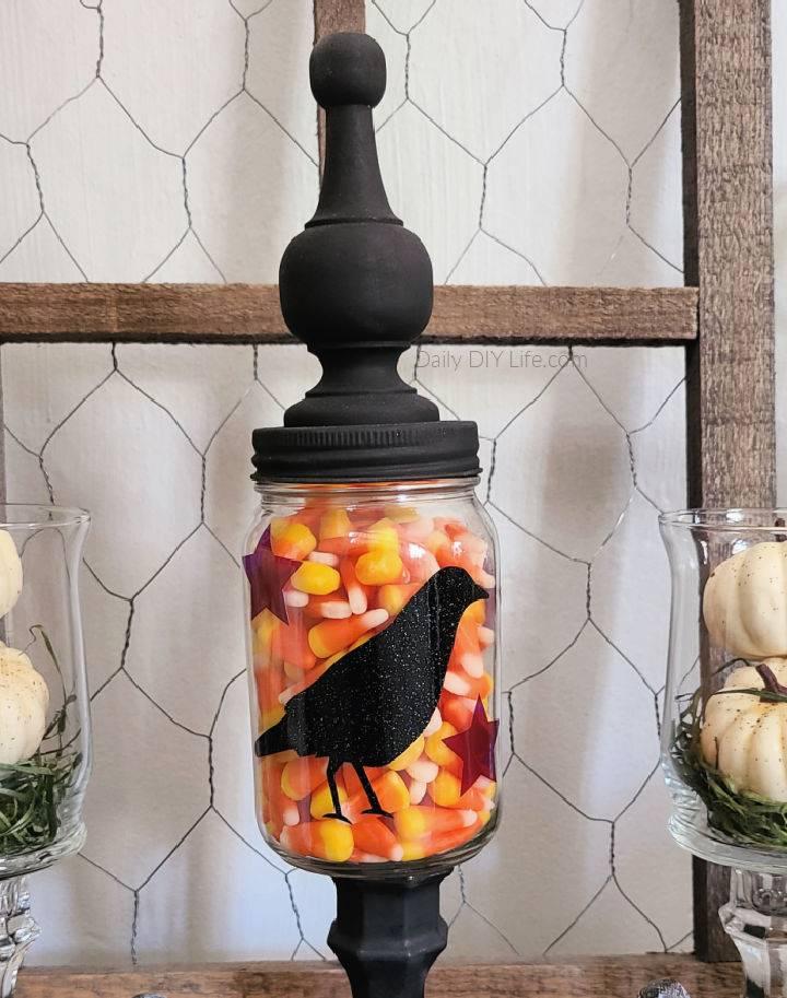 Primitive Fall Mason Jar Candy Dish