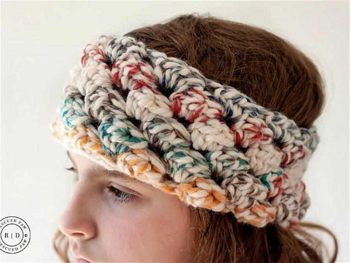 Puff Crochet Headband Pattern
