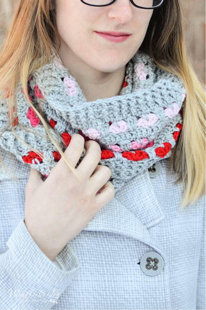 Puppy Love Crochet Infinity Scarf Pattern