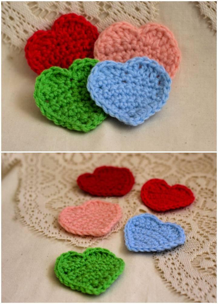 Quick and Easy Crochet Heart Applique